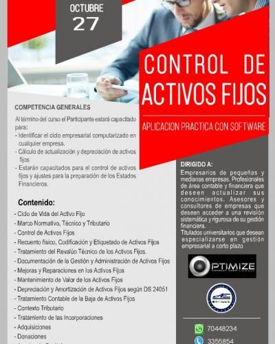 CONTROL DE ACTIVOS FIJOS