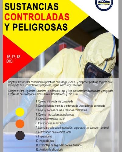 ALMACENAMIENTO, MANIPULACIÓN Y TRANSPORTE DE SUSTANCIAS CONTROLADAS Y PELIGROSAS